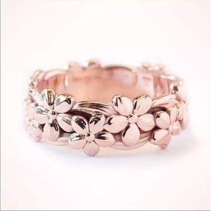 New Rose Gold Full Flower Female Engagement Ring